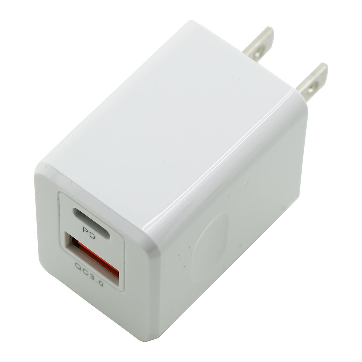 PD&QC対応Type-C/1USBポートAC充電器20W S